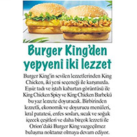 Two Brand New Tastes by Burger King®: King Chicken Spicy and King Chicken Barbecue